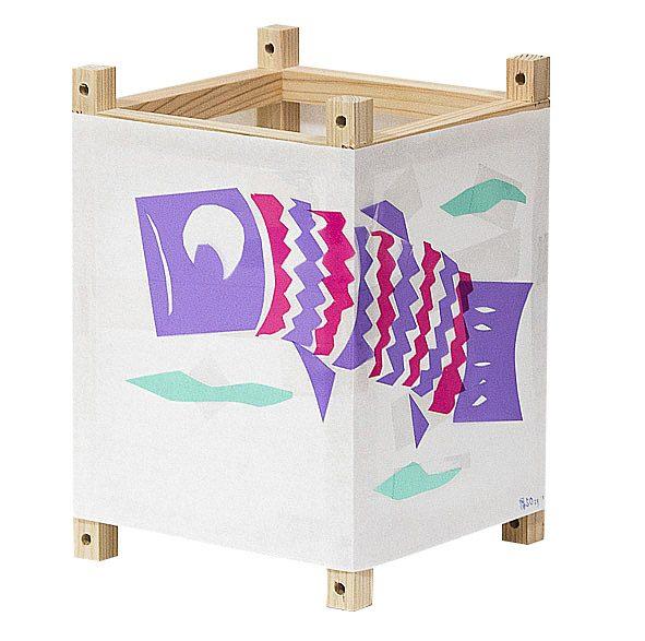 灯籠完成品 鯉のぼりはカラーセロファン